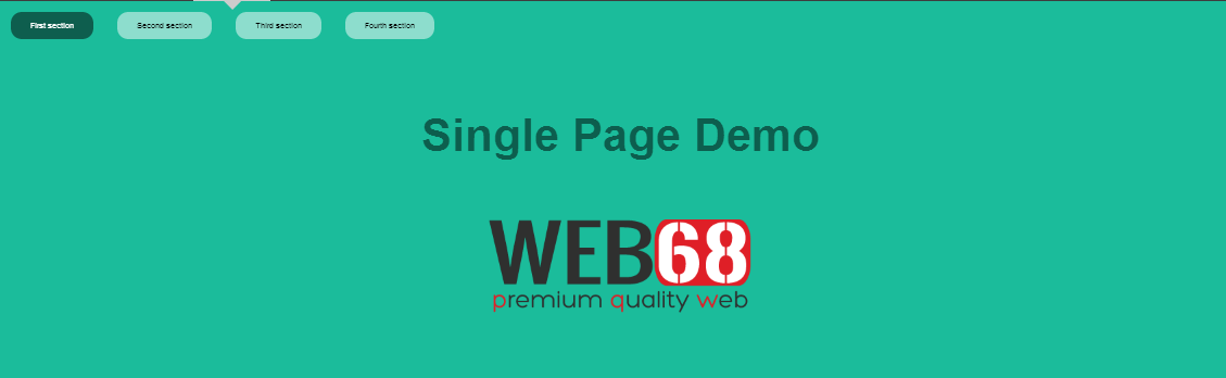 Single page website made easy with fullPage jQuery plugin